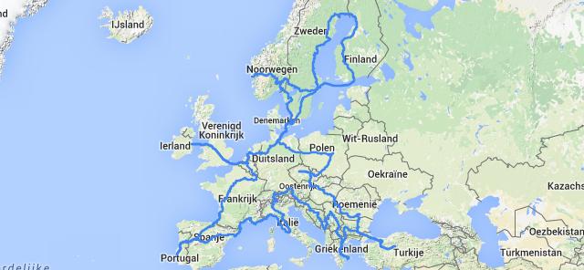 Koen reist 30 dagen door 30 landen met de trein
