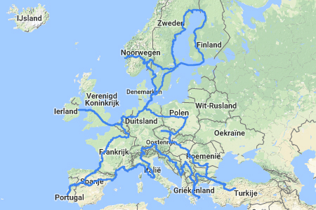 Interrail 30 countries in 30 days