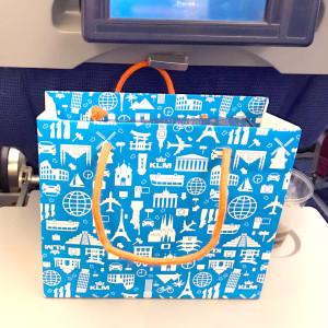 Het tasje met cadeautjes!