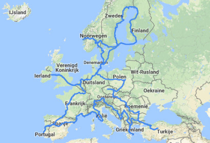 Interrail 30 countries in 30 days