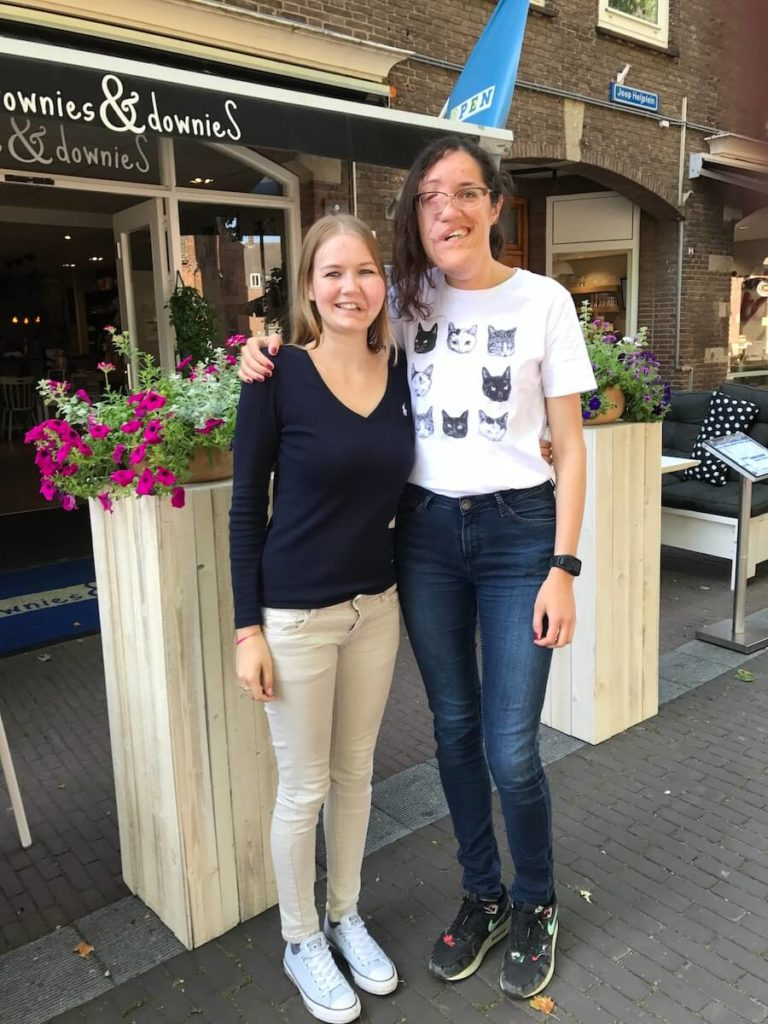 Wilma and Janneke at Brownies and Downies in Wageningen - Facial Infiltrating Lipomatosis, a PIK3ca Related Overgrowth condition - PROS syndrome